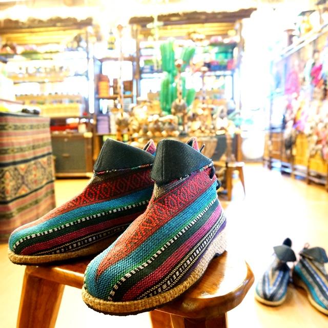 モン族ブーツ/エスニックブーツ/民族ブーツ