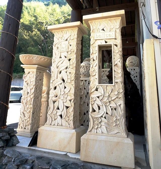 ライムストーン石柱