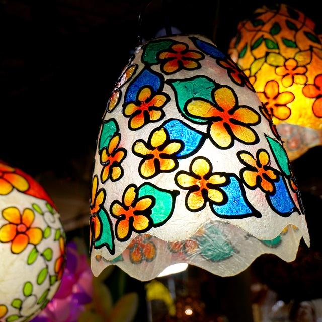 ステンドグラス風ランプ/アジアンインテリア