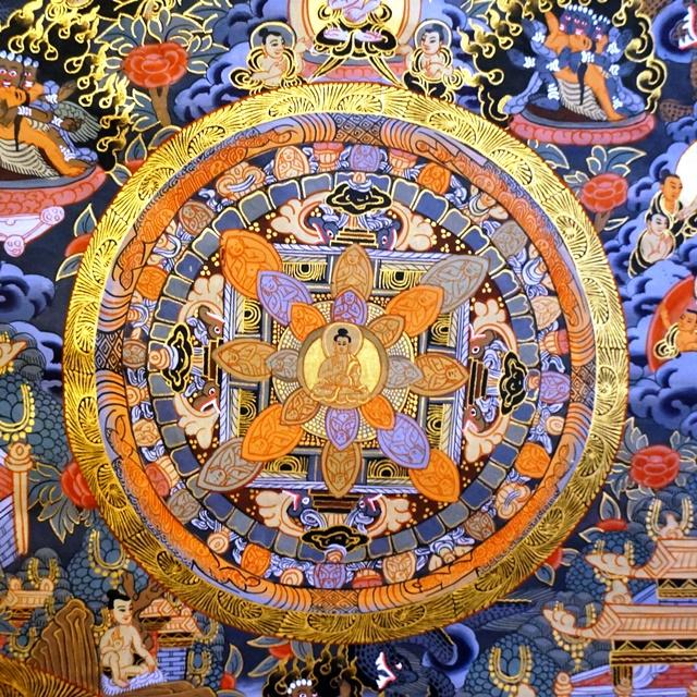 曼荼羅 チベット密教タンカ/ネパール