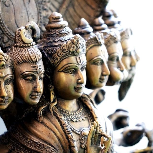 ヴィシュヌ神 真鍮像/ヒンドゥー教の神様像