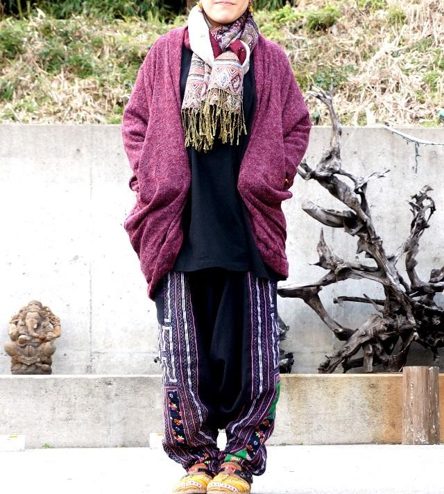 ドルマンカーディガン/モモンガカーデ/エスニックファッション