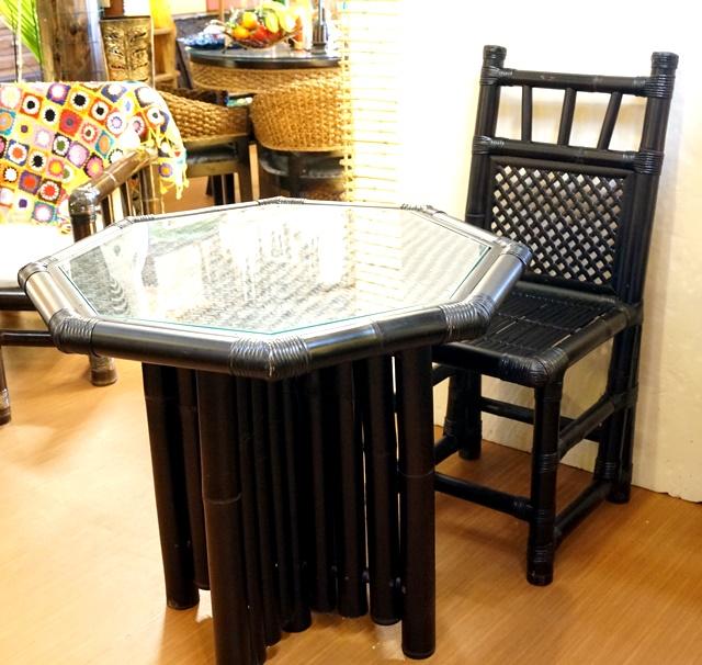 バンブー家具/テーブル&チェア5点セット/アジアンインテリア