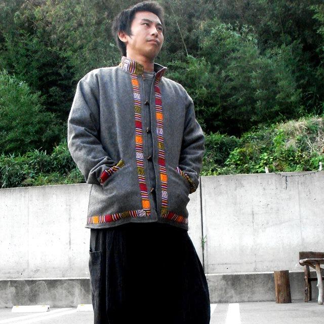 ネパールウールのジャケット・ゲリコットンポイント使い/男女兼用