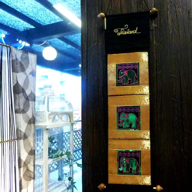 アジアンレターラック/象さんのキラキラスパンコール壁掛けレターラック