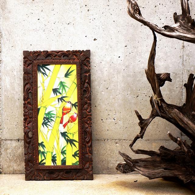 バリ絵画/ブンゴセカンスタイル・竹/アジアンインテリア