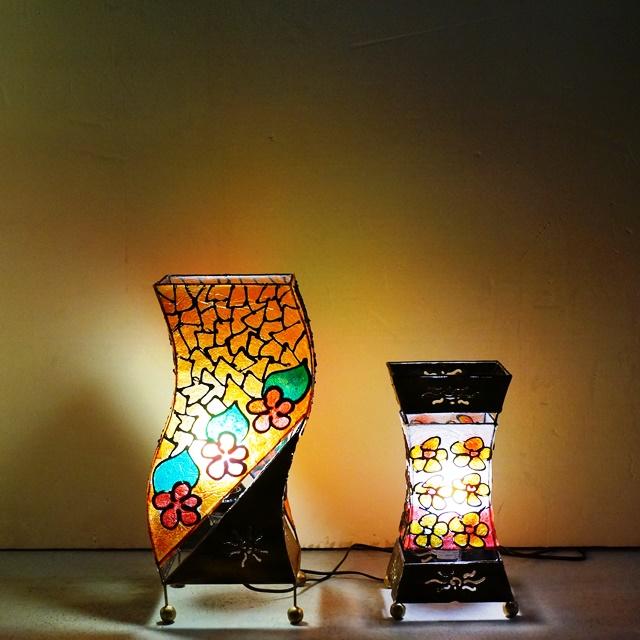 卓上ランプ/ステンドグラス風ランプ