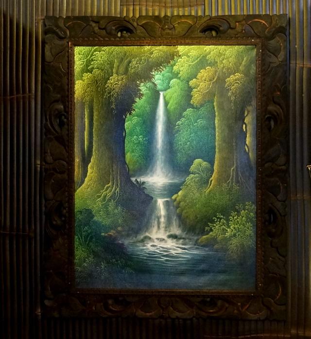 バリ絵画/バリ島の自然風景画