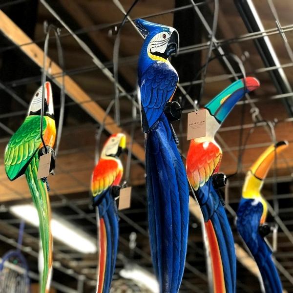 オウム・南国鳥・木彫り