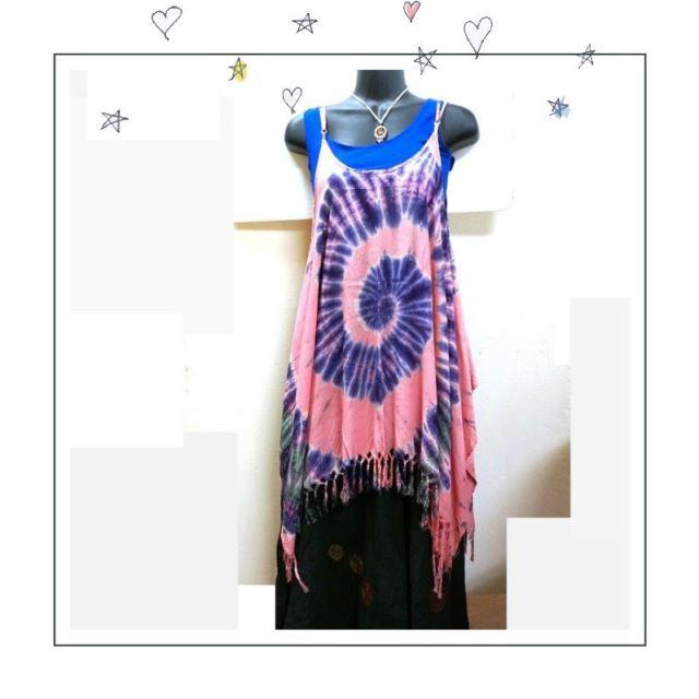 コーディネート/タイダイのキャミソール/エスニックファッション