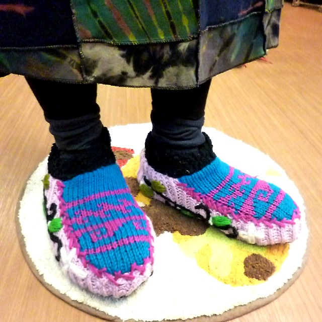 手編みのルームシューズ/ネパール雑貨