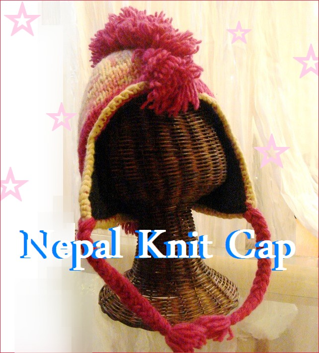 ネパールの手編みニット帽子