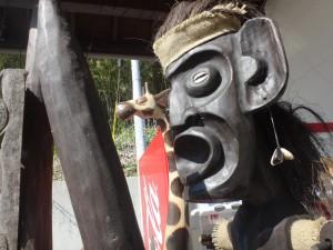 木彫りのシマウマ、キリン