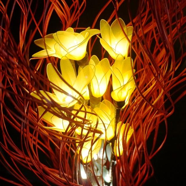 フラワーランプ/アジアンインテリア照明