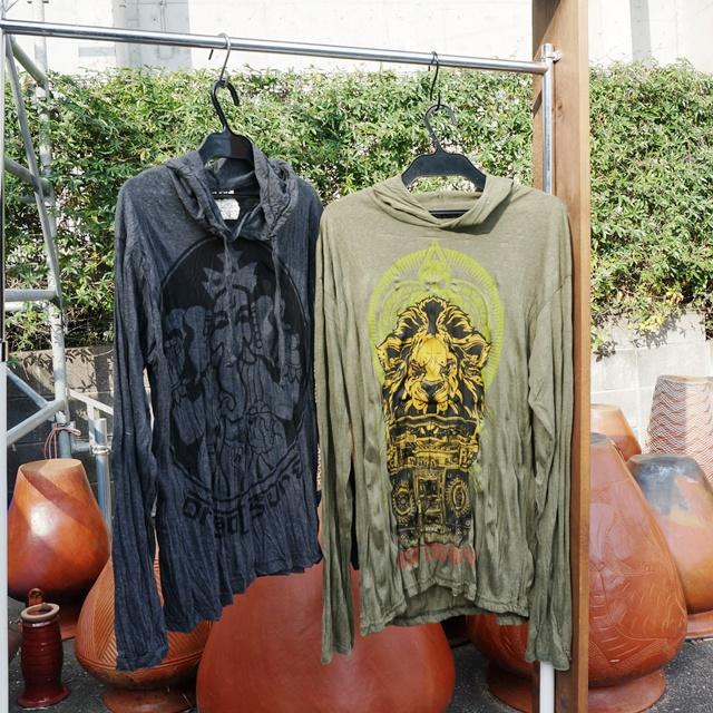 エスニックプリント長袖Tシャツ/エスニックファッション