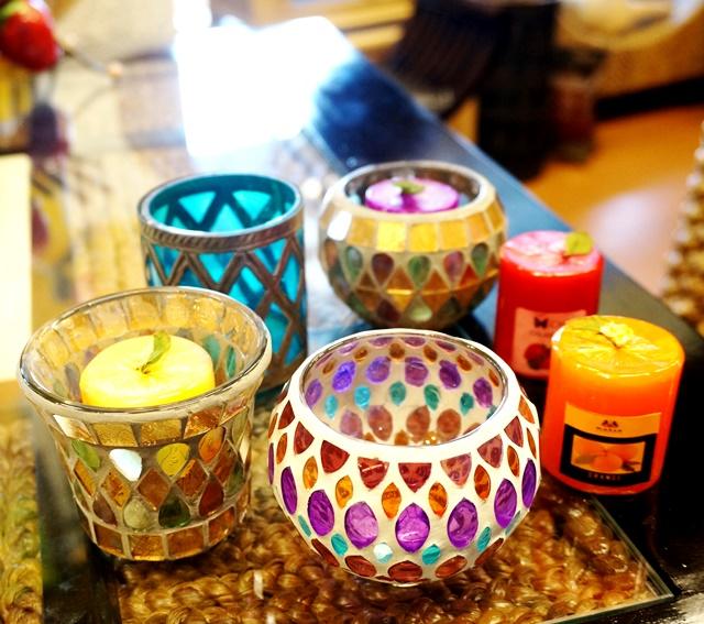 キャンドルグラス/モザイクガラス