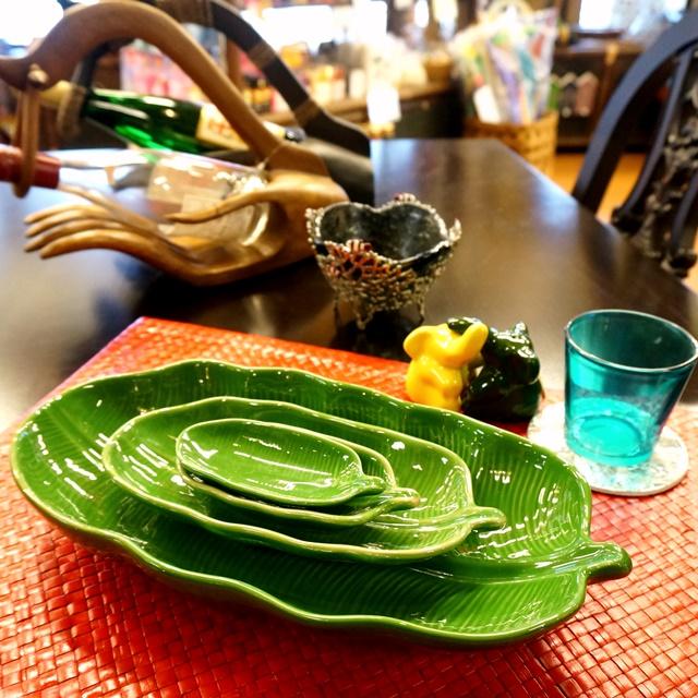バナナリーフ皿/アジアンキッチン雑貨