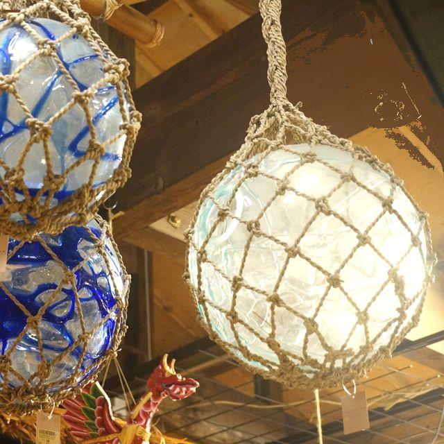 ガラスの浮き玉/ガラスのインテリア用品/アジアンリゾート風インテリア