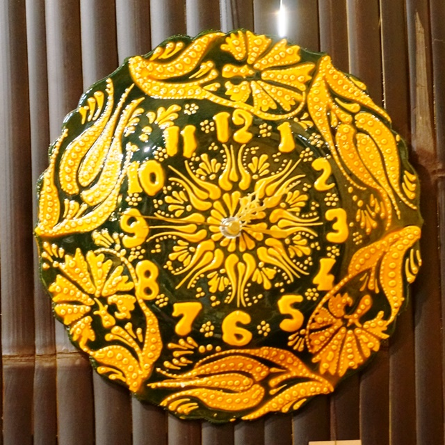 掛け時計/陶器/トルコ雑貨