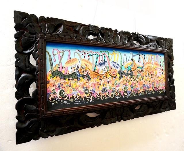 バリ絵画/お祭り/ヤングアーティストスタイル