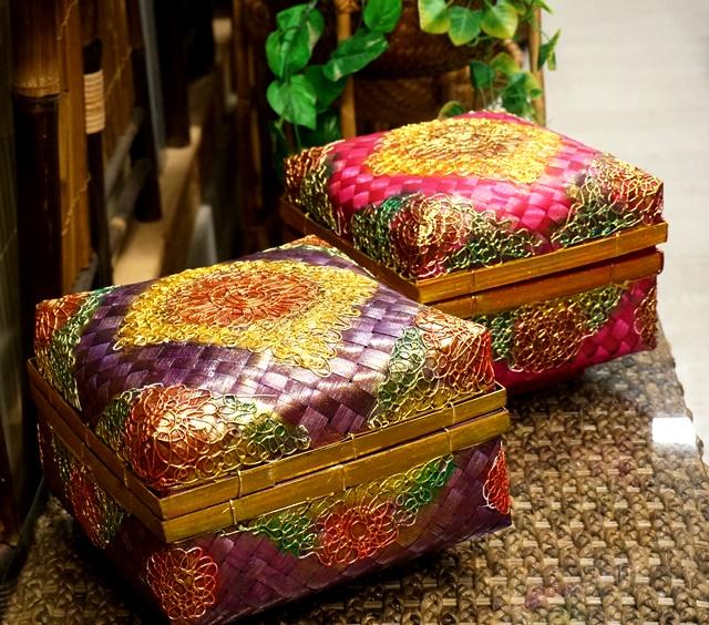 蓋付かごボックス/ソカシ/バンブー竹カゴボックス