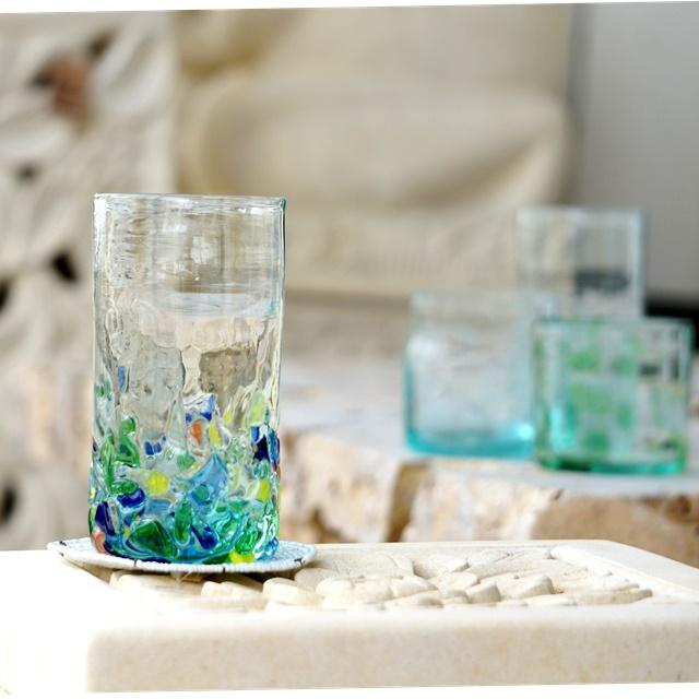 ガラスのコップ/バリ雑貨