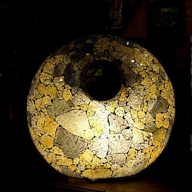 モザイクガラスの卓上ランプ/バリ風リゾートインテリア/アジアンインテリア