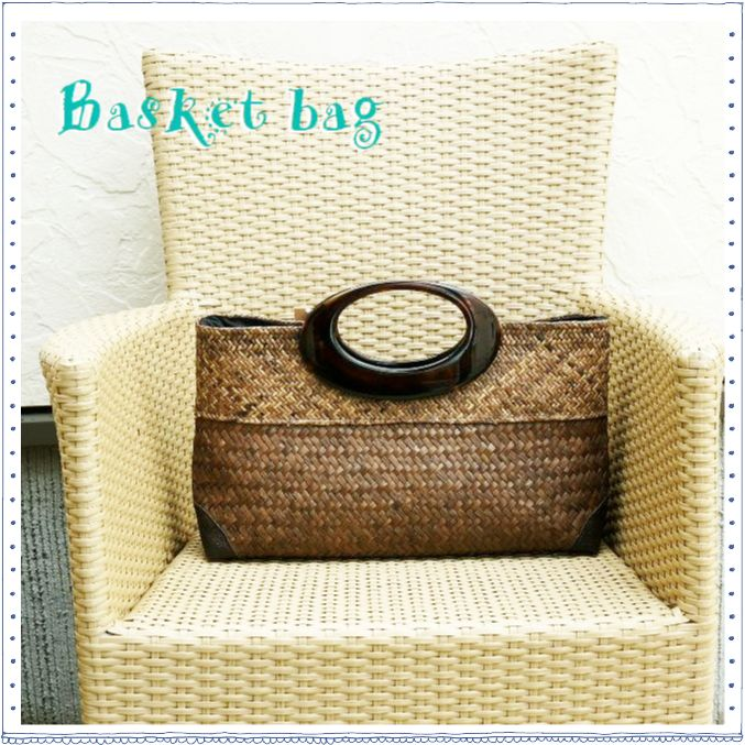 かごバッグ/アジアン雑貨/エスニックファッション/和服にもぴったりのかごバッグ