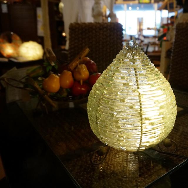 ガラスのランプ/テーブルランプ/アジアンリゾートインテリア