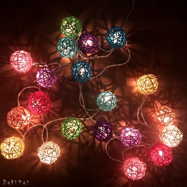 ラタンボール ランプ