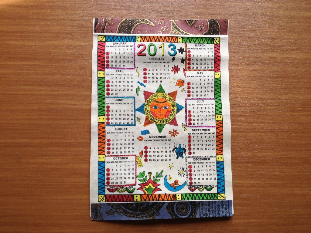 2013年カレンダー その2