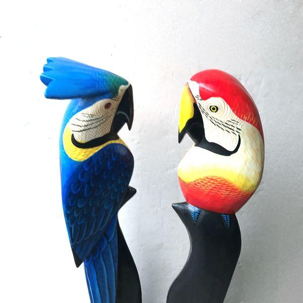 南国鳥/木彫り