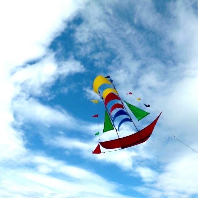 バリの船の形の凧