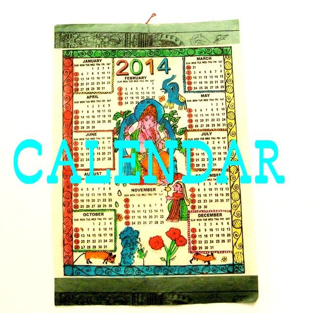2014年カレンダー②/ネパール ロクタ紙