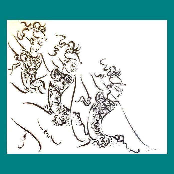 バリ絵画/踊り子