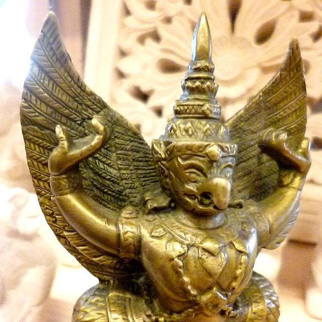 ガルーダ神像/真鍮製