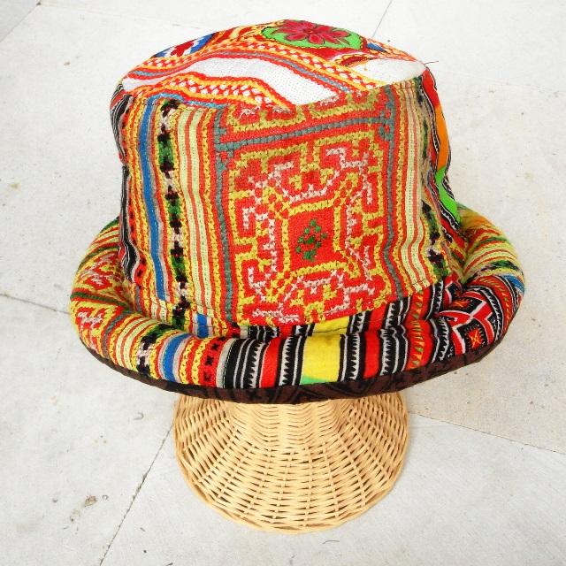 モン族刺繍帽子/ハット&キャスケット