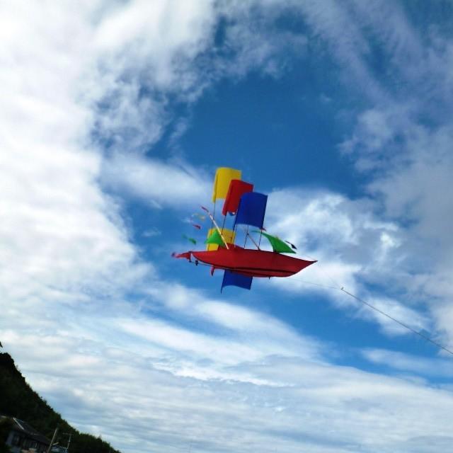 バリの帆船型の凧