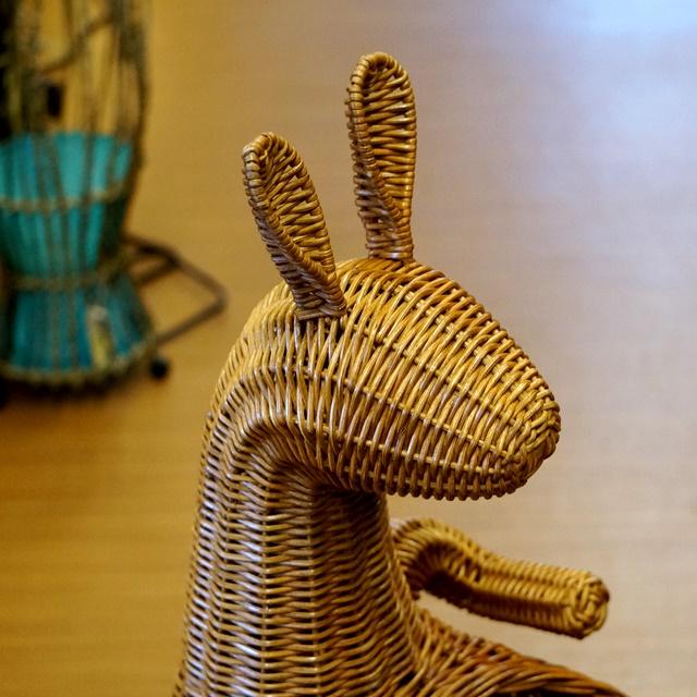 籐バスケット/カンガルー