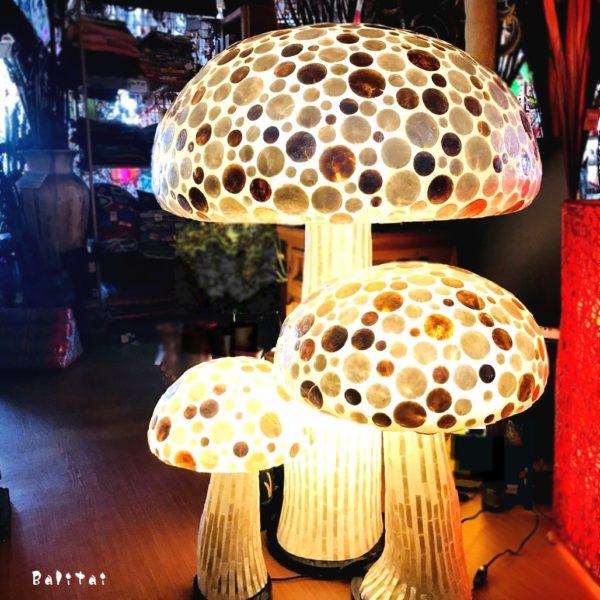 シェルランプ/キノコのランプ