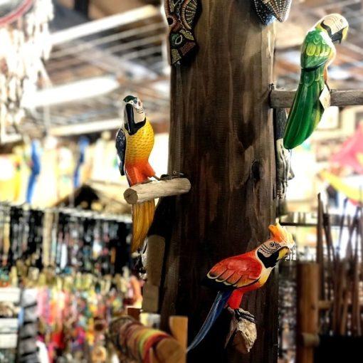 鳥雑貨/バリ木彫り