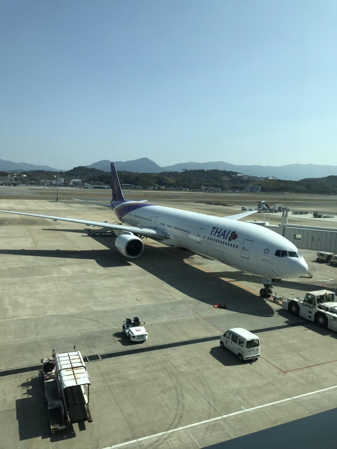 福岡空港 タイ航空