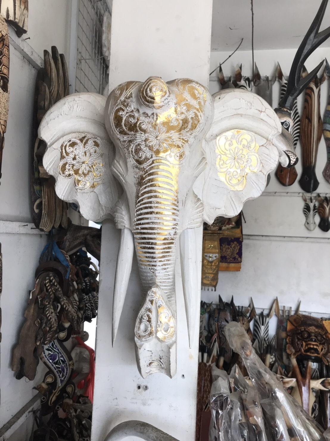 象 木彫り