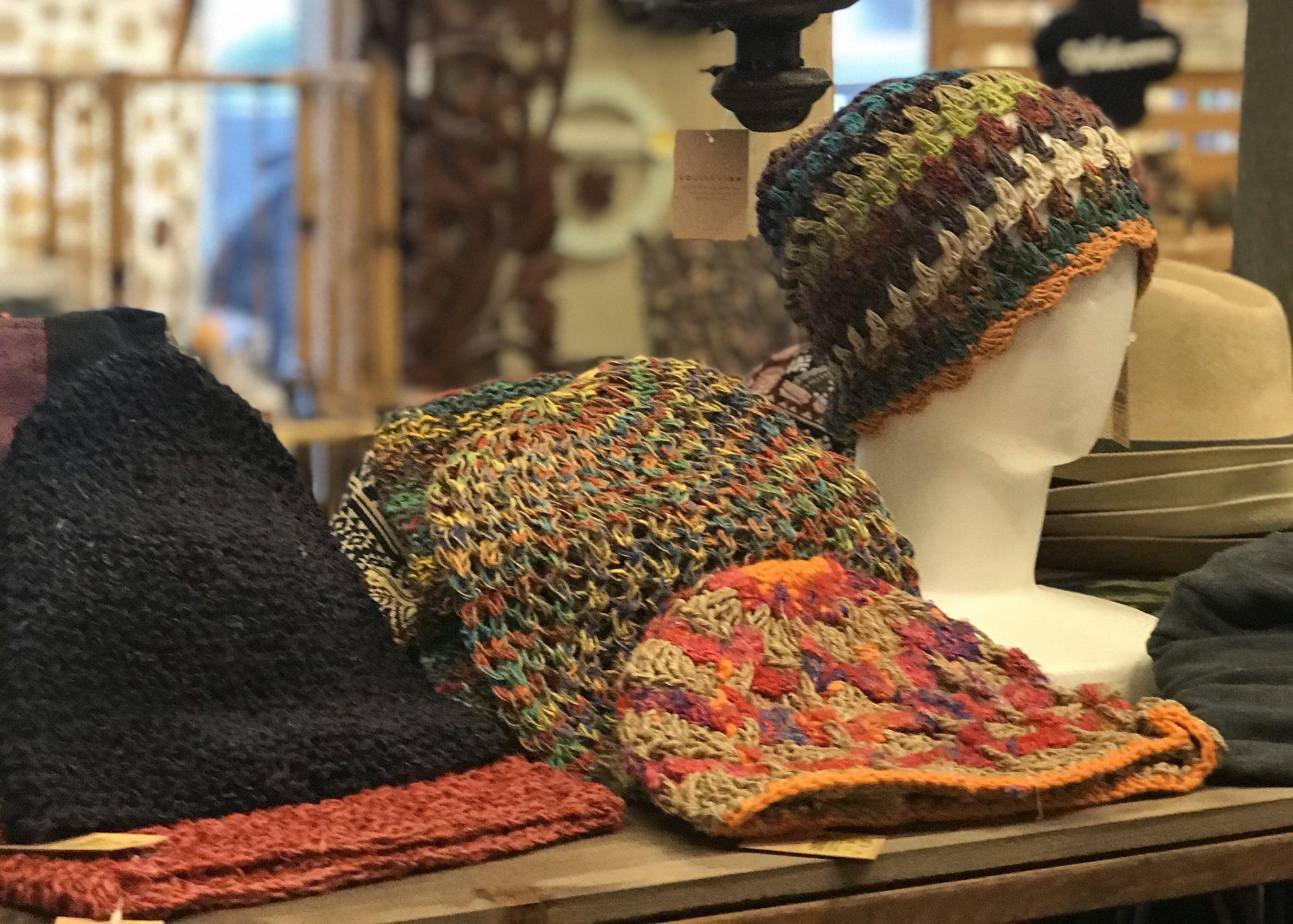 手編みニット帽/エスニックファッション
