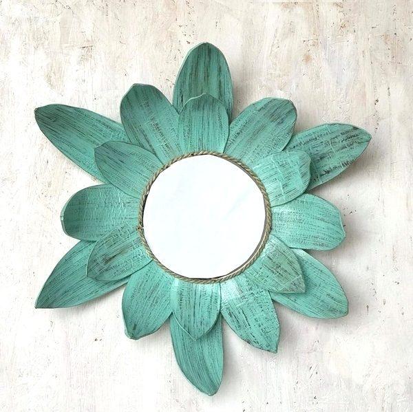 ミラー・鏡/ヤシの葉のウォールミラー