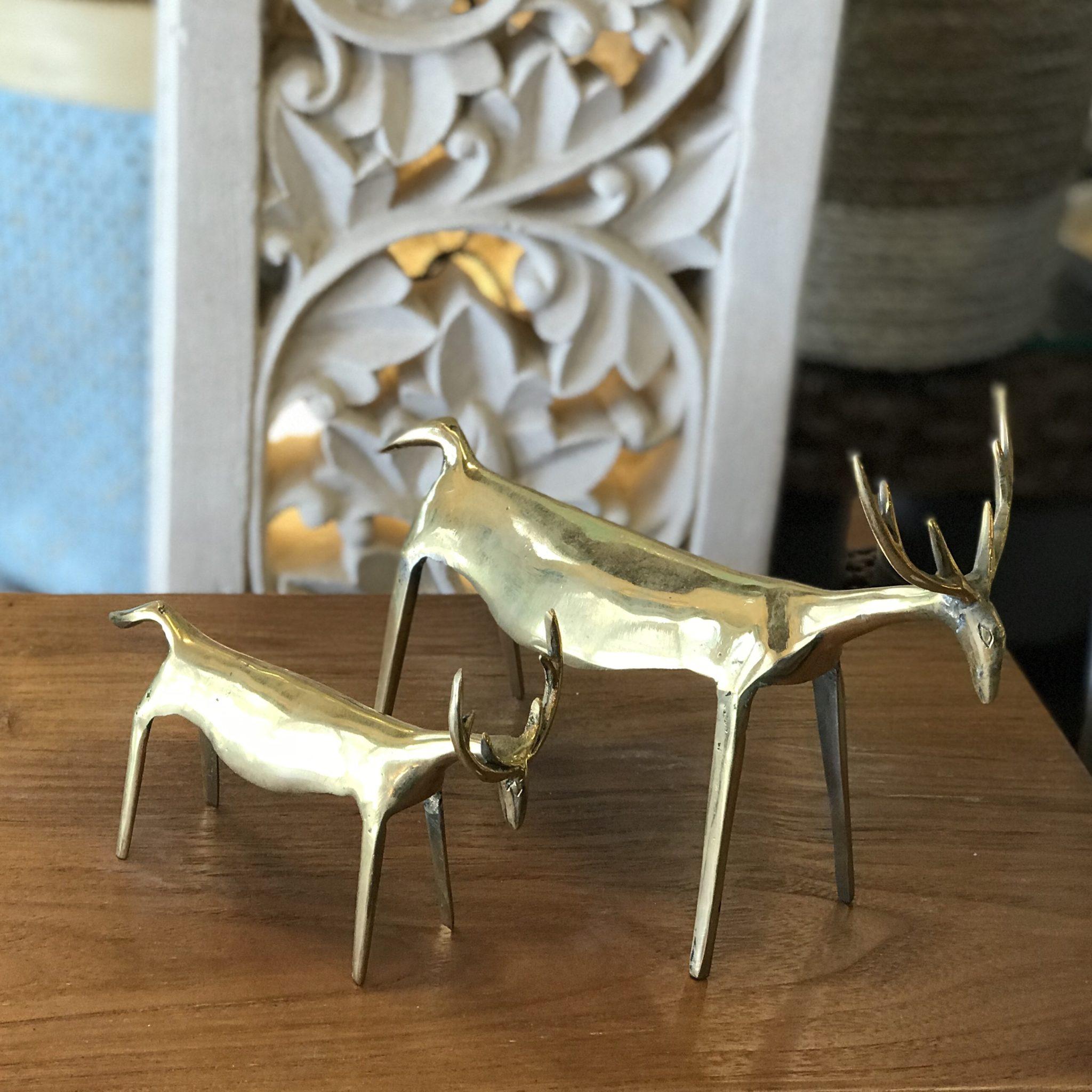鹿のオブジェ/キジャンのオブジェ/バリ島雑貨