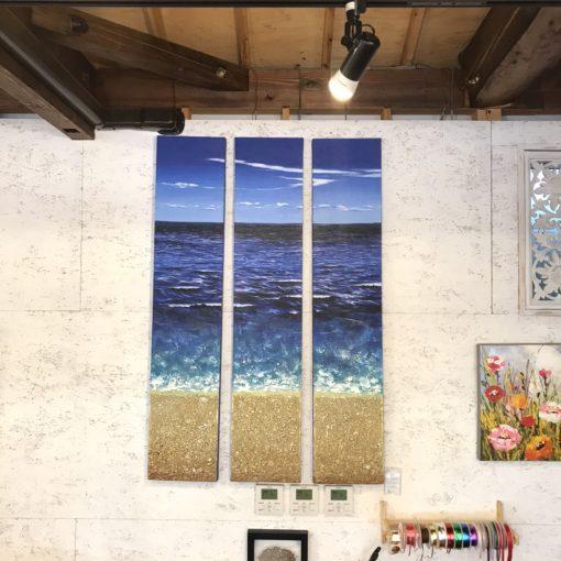 バリ絵画/サンゴの立体アート