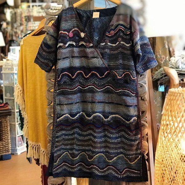 刺し子のワンピース/エスニックファッション