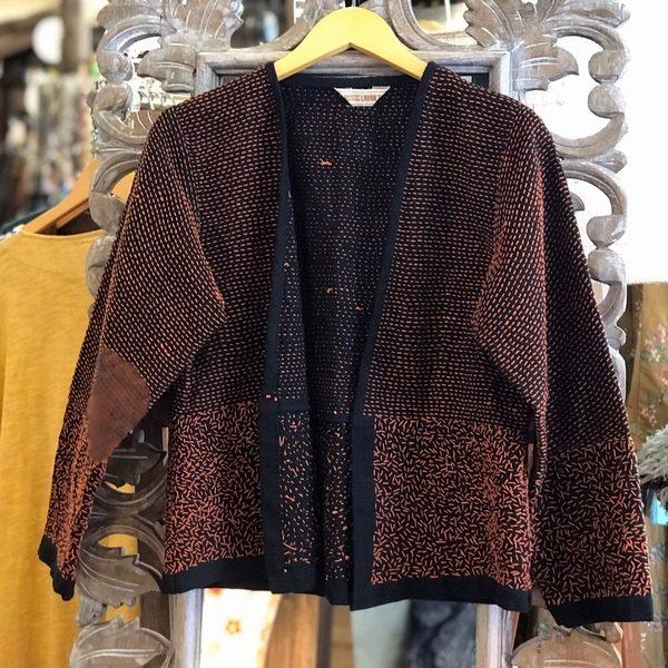 刺し子のコットンジャケット/エスニックファッション