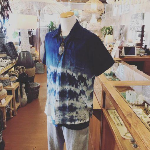 Hyena メンズ半袖シャツ